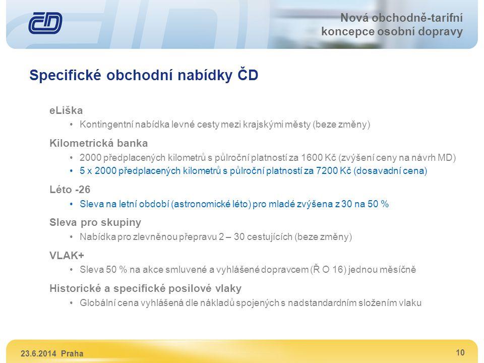 Specifické obchodní nabídky ČD