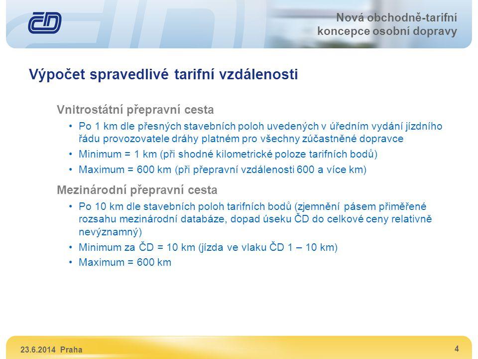 Výpočet spravedlivé tarifní vzdálenosti