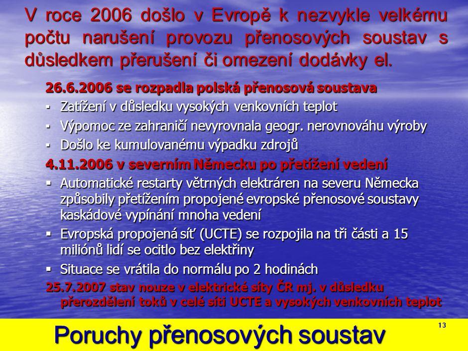 Náročné řešení výpadku 930MW dne 23.1.2006