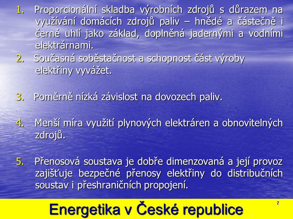 SPOTŘEBA ELEKTŘINY V ČR POROSTE I PŘI MAXIMÁLNÍM