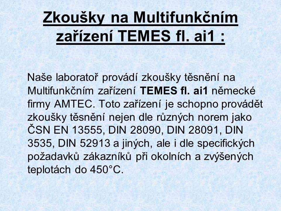 Zkoušky na Multifunkčním zařízení TEMES fl. ai1 :