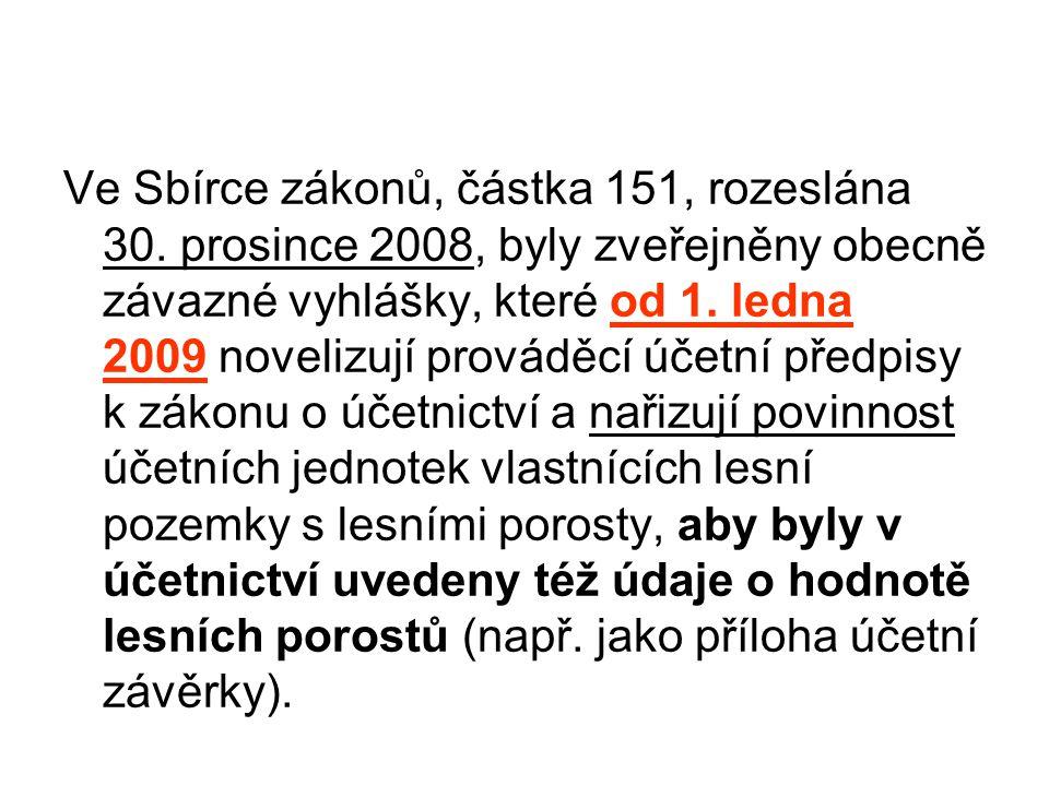 Ve Sbírce zákonů, částka 151, rozeslána 30