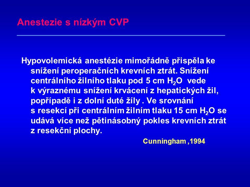Anestezie s nízkým CVP