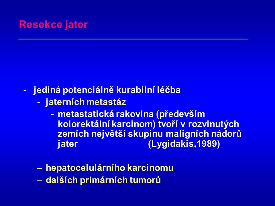 Resekce jater jediná potenciálně kurabilní léčba jaterních metastáz