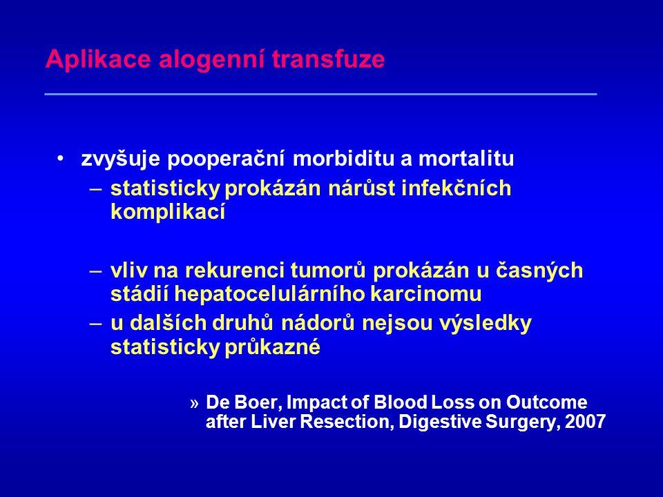 Aplikace alogenní transfuze