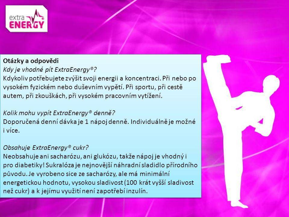 Otázky a odpovědi Kdy je vhodné pít ExtraEnergy®