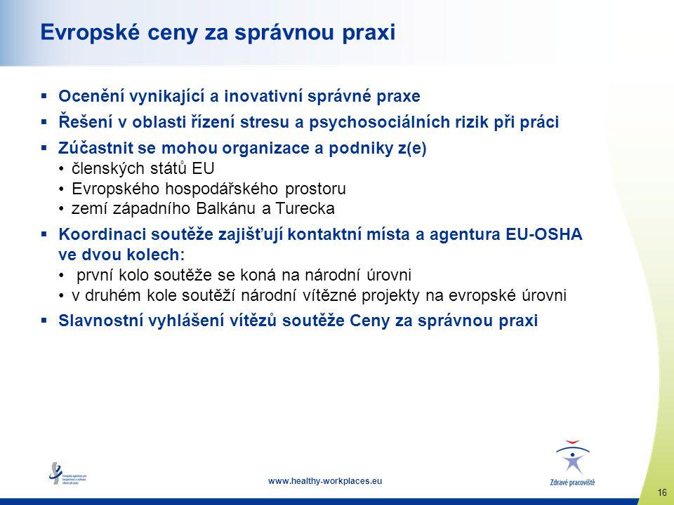 Evropské ceny za správnou praxi