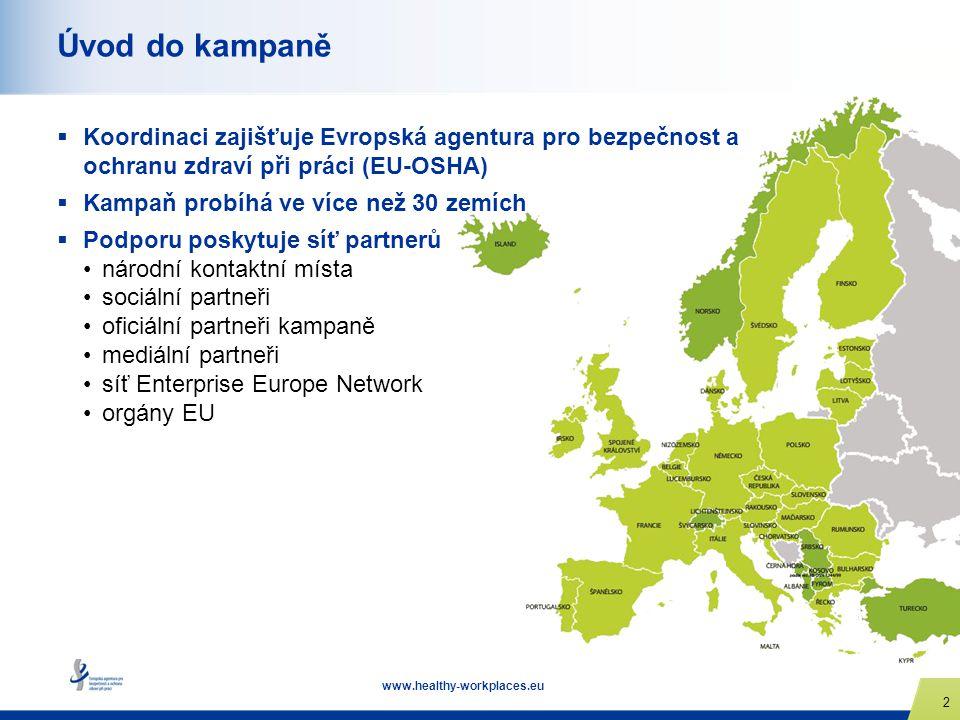 Úvod do kampaně Koordinaci zajišťuje Evropská agentura pro bezpečnost a ochranu zdraví při práci (EU-OSHA)