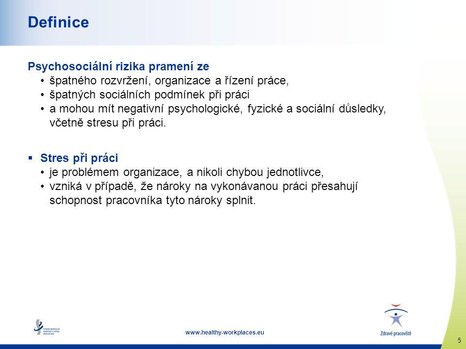 Definice Psychosociální rizika pramení ze