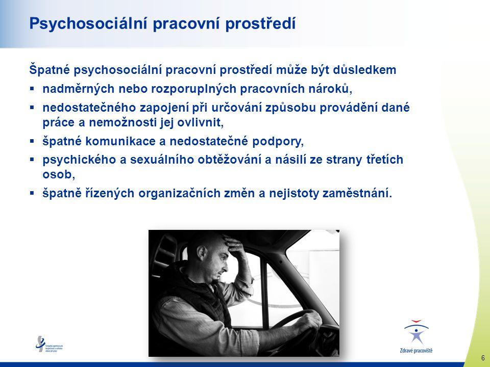 Psychosociální pracovní prostředí