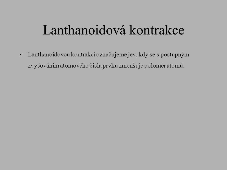 Lanthanoidová kontrakce