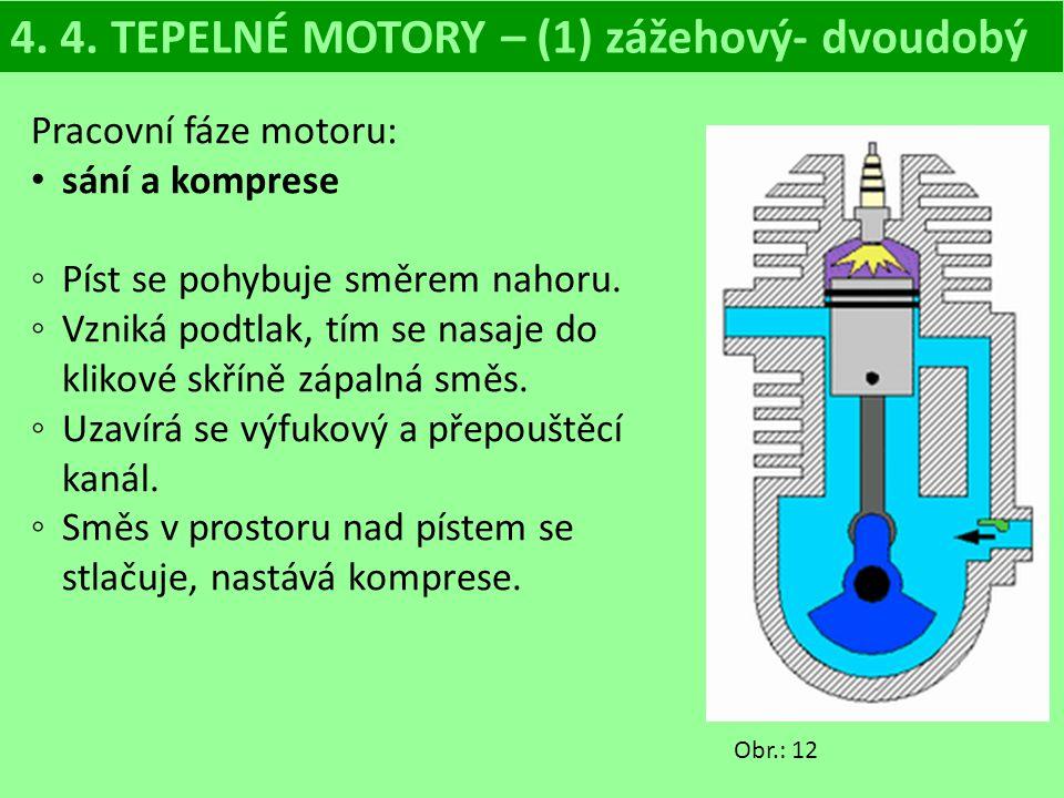 4. 4. TEPELNÉ MOTORY – (1) zážehový- dvoudobý