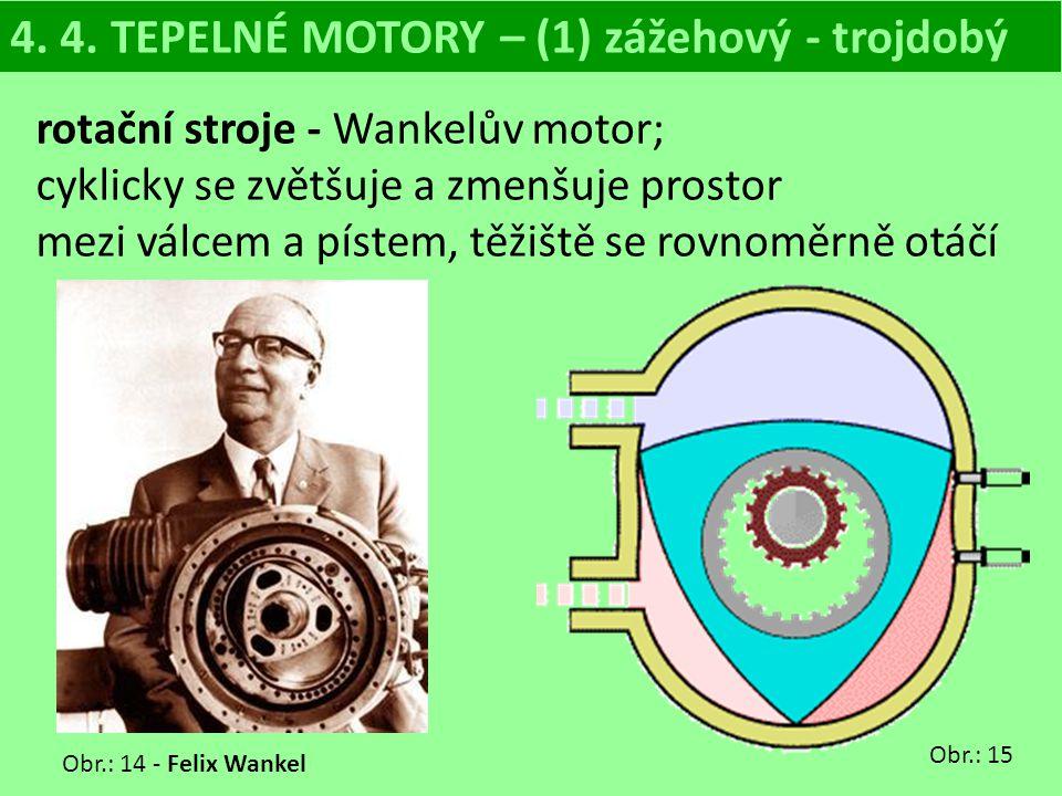 4. 4. TEPELNÉ MOTORY – (1) zážehový - trojdobý