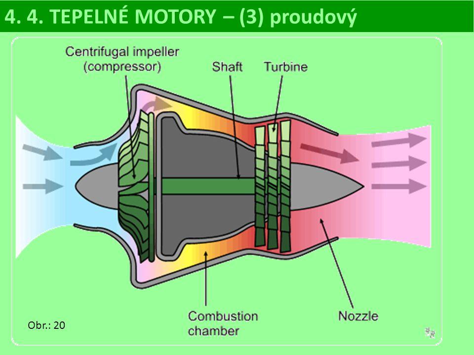 4. 4. TEPELNÉ MOTORY – (3) proudový