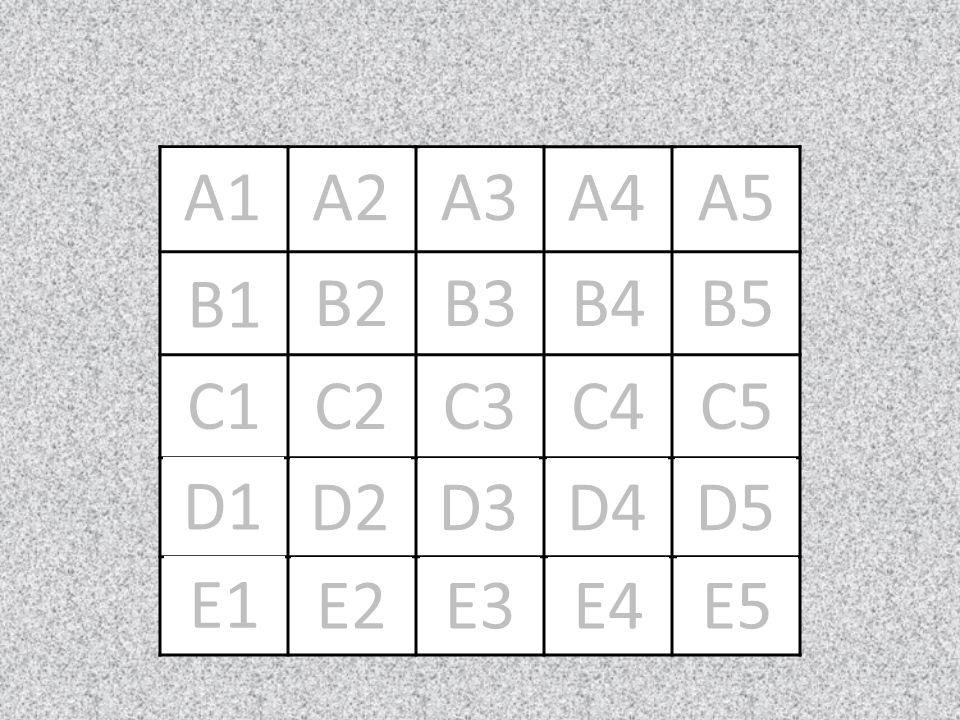 X A1 O X A2 O X O A3 A4 X O A5 O X B1 O X B2 X O B3 O X B4 O X B5 O X