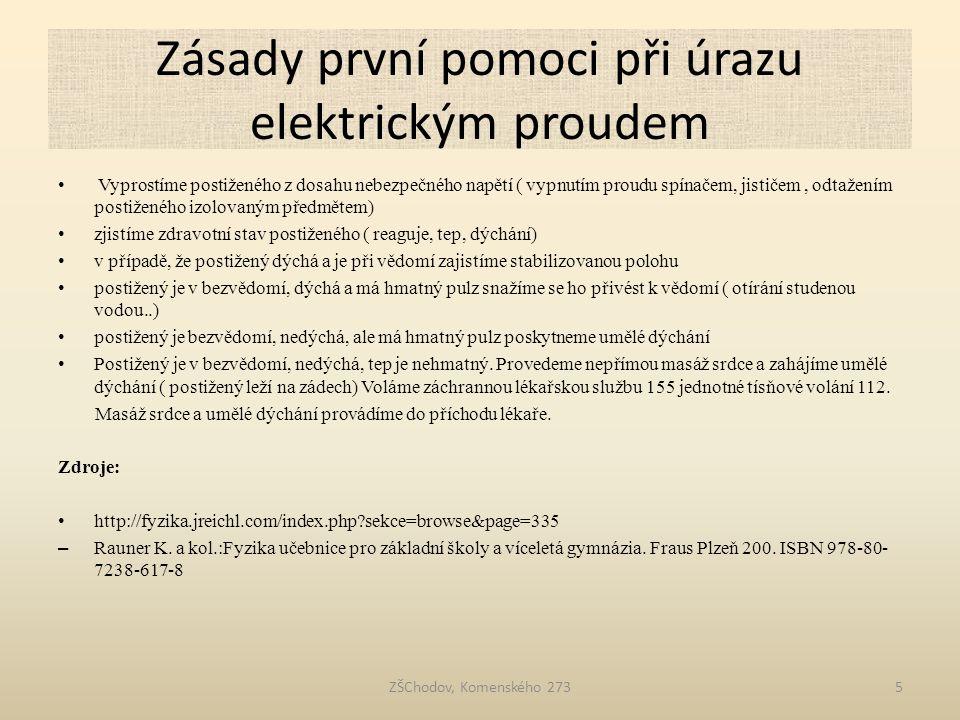 Zásady první pomoci při úrazu elektrickým proudem