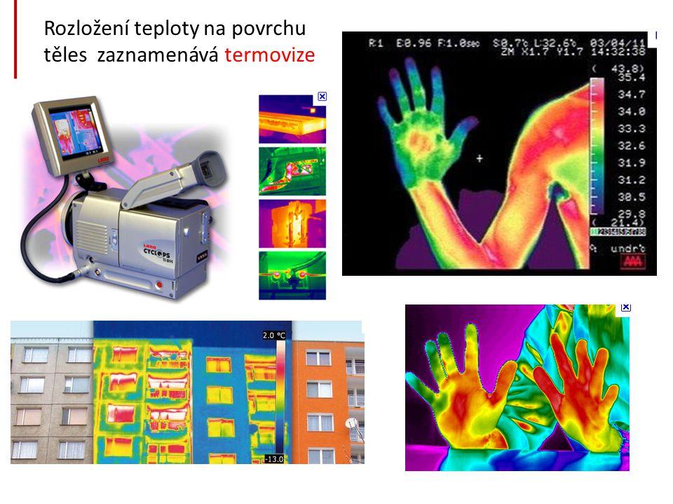 Rozložení teploty na povrchu těles zaznamenává termovize