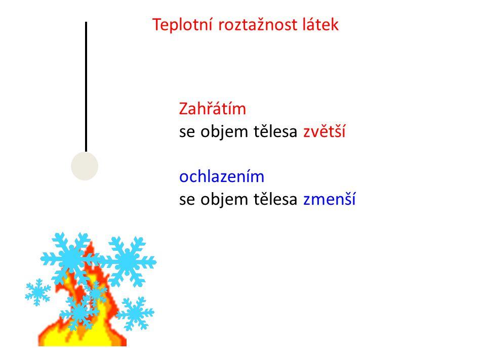 Teplotní roztažnost látek