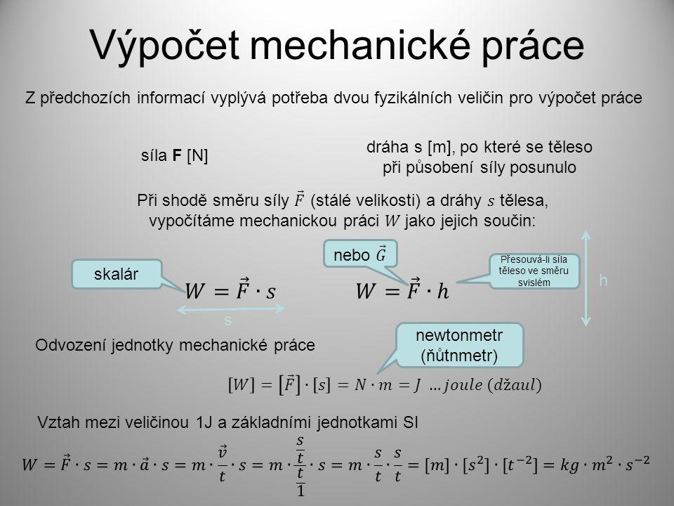 Výpočet mechanické práce