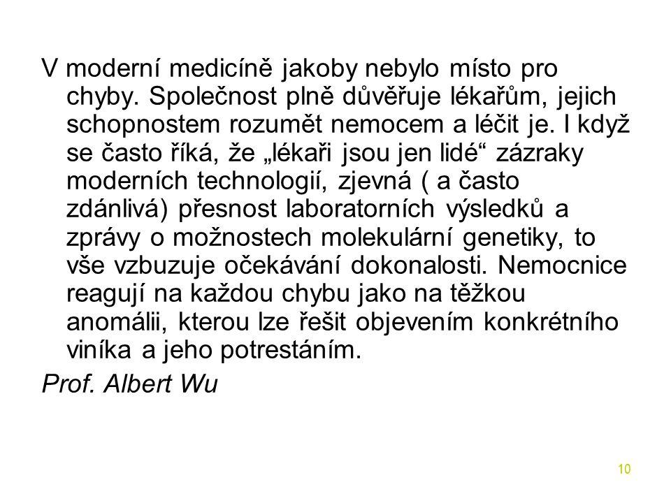 V moderní medicíně jakoby nebylo místo pro chyby