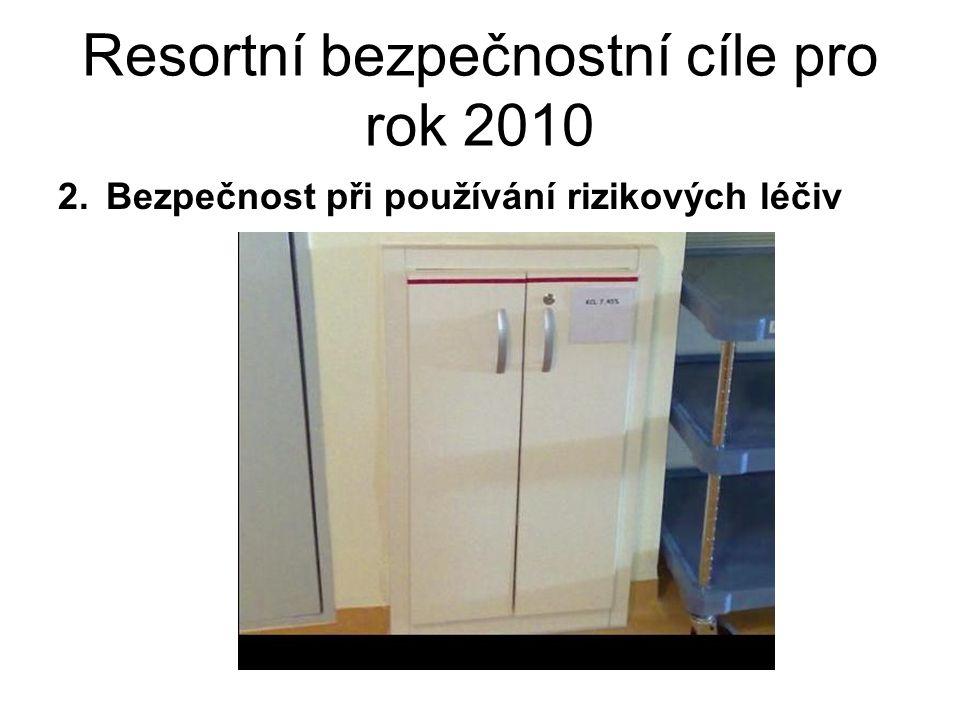 Resortní bezpečnostní cíle pro rok 2010