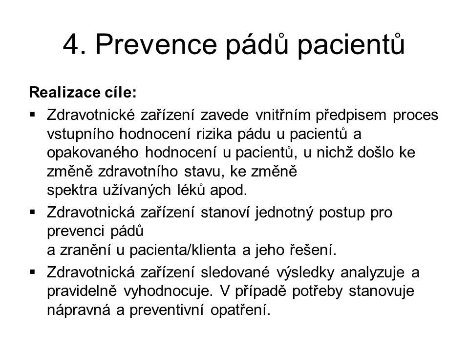 4. Prevence pádů pacientů