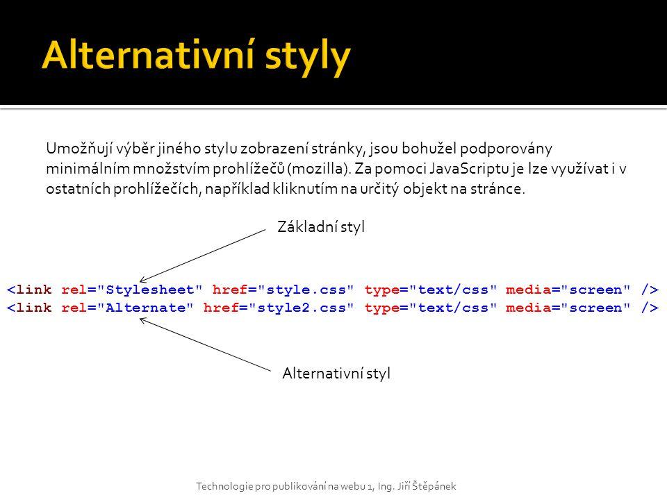Alternativní styly