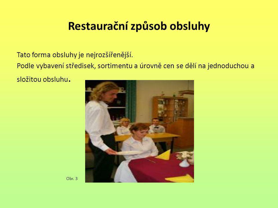 Restaurační způsob obsluhy