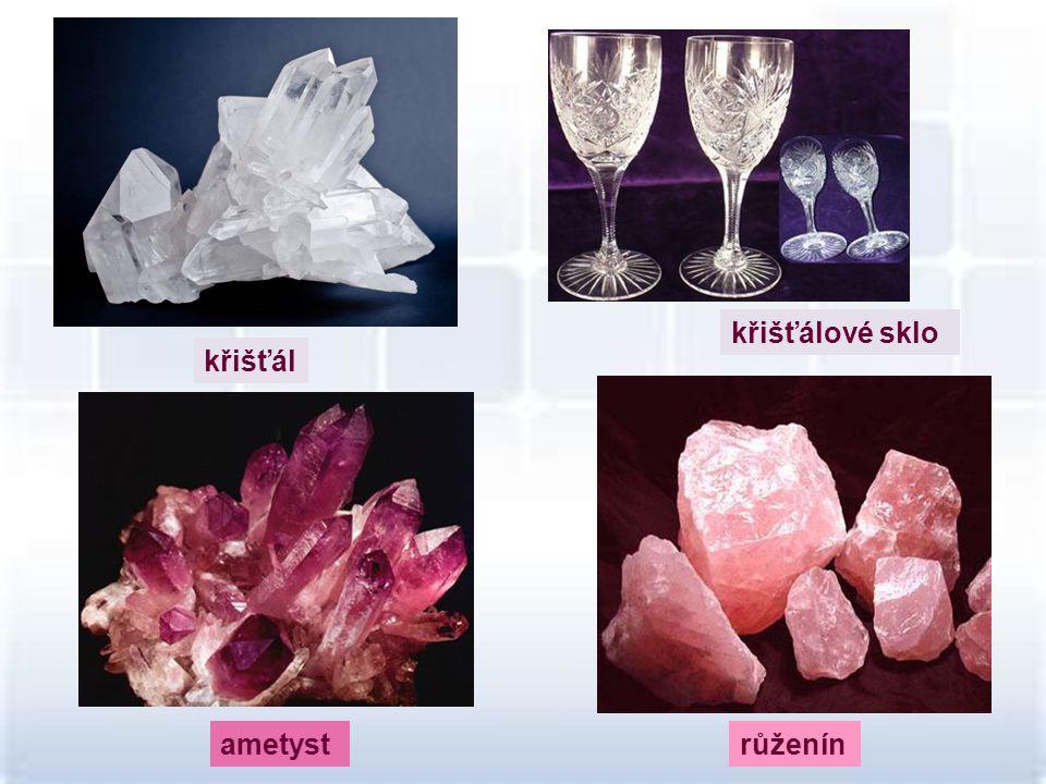 křišťálové sklo křišťál ametyst růženín