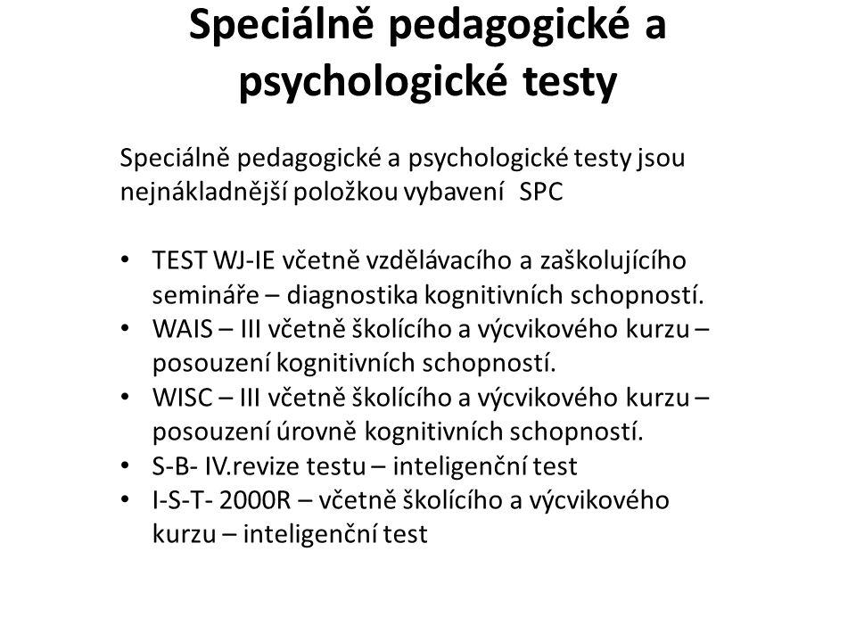 Speciálně pedagogické a psychologické testy