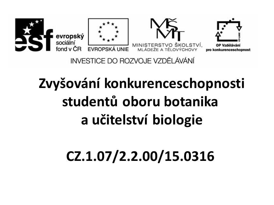 Zvyšování konkurenceschopnosti studentů oboru botanika