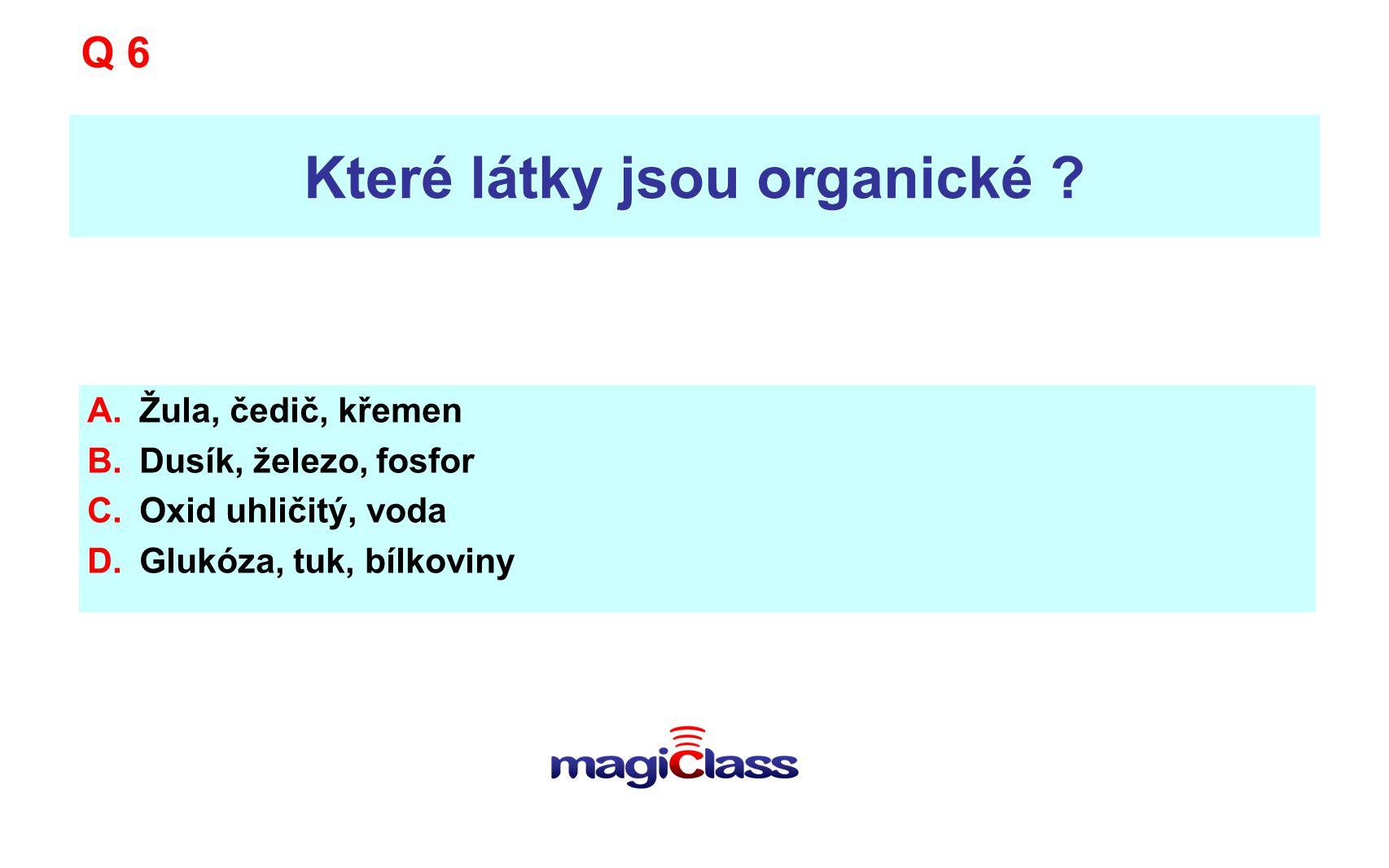 Které látky jsou organické