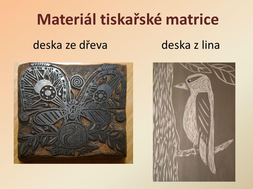Materiál tiskařské matrice
