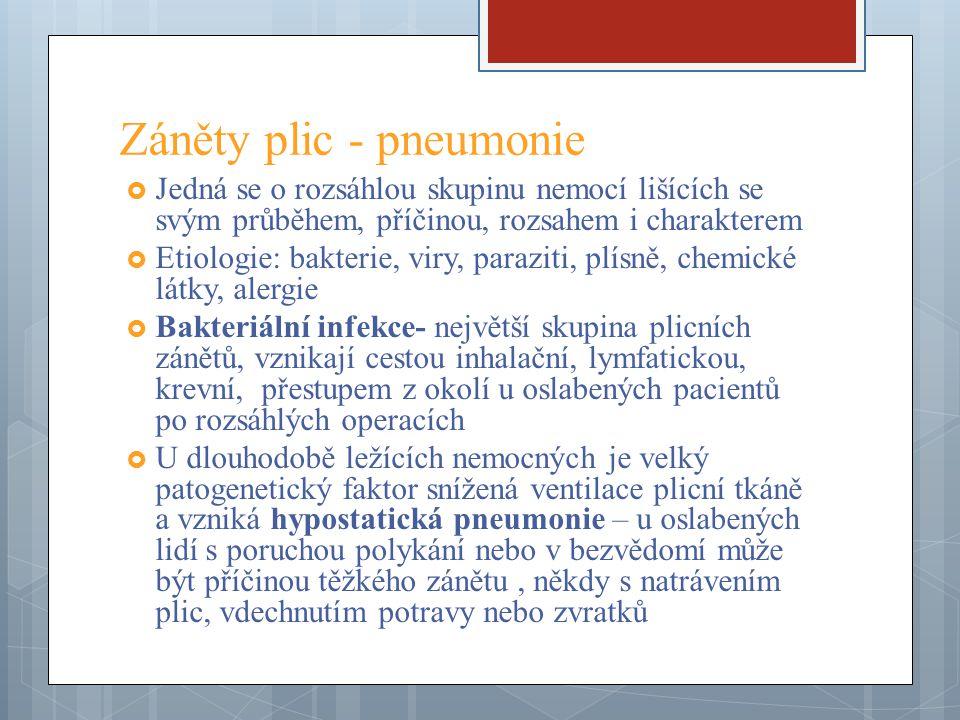 Záněty plic - pneumonie