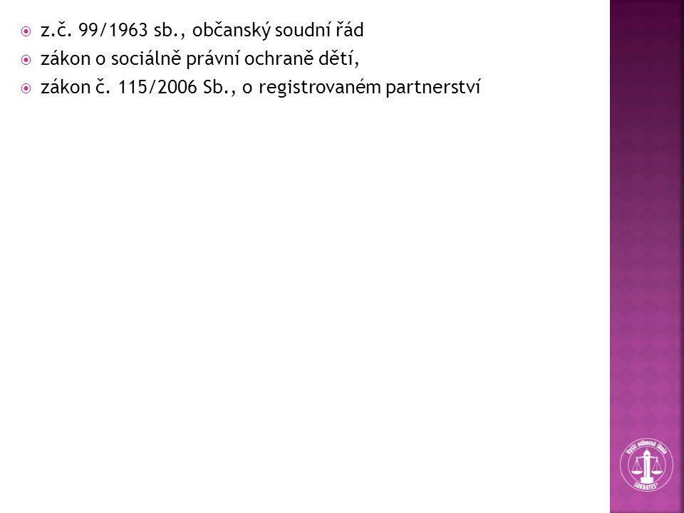 z.č. 99/1963 sb., občanský soudní řád