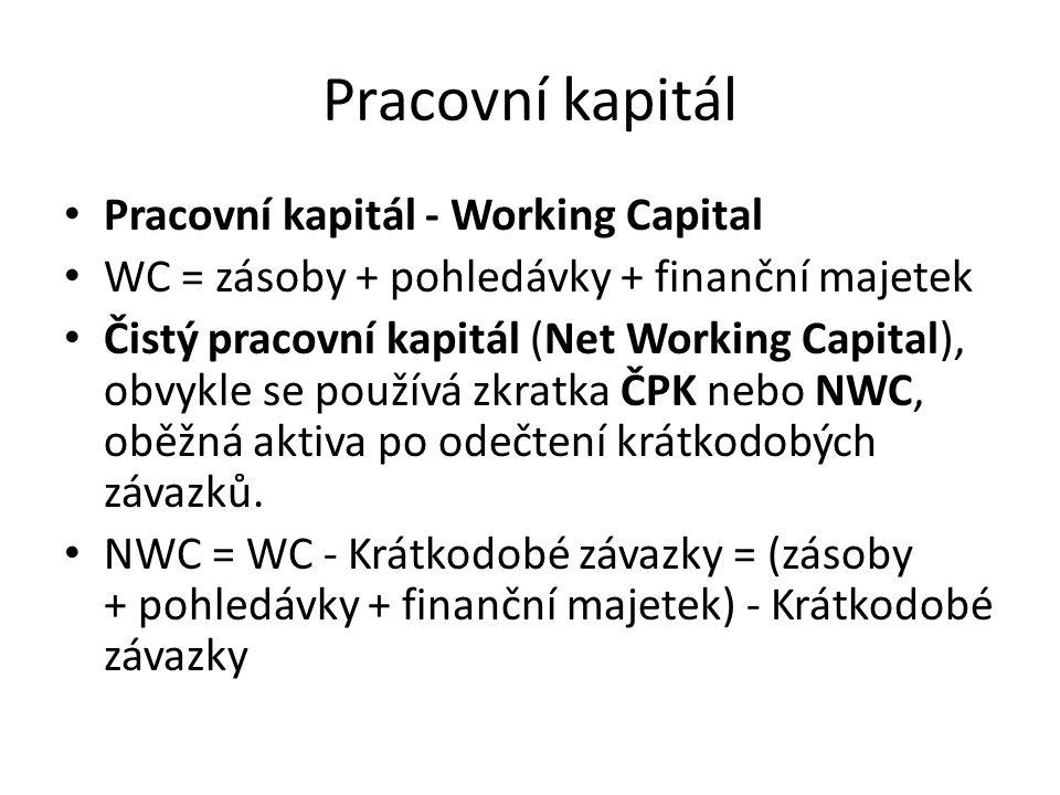 Pracovní kapitál Pracovní kapitál - Working Capital