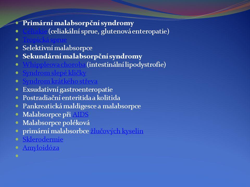 Primární malabsorpční syndromy