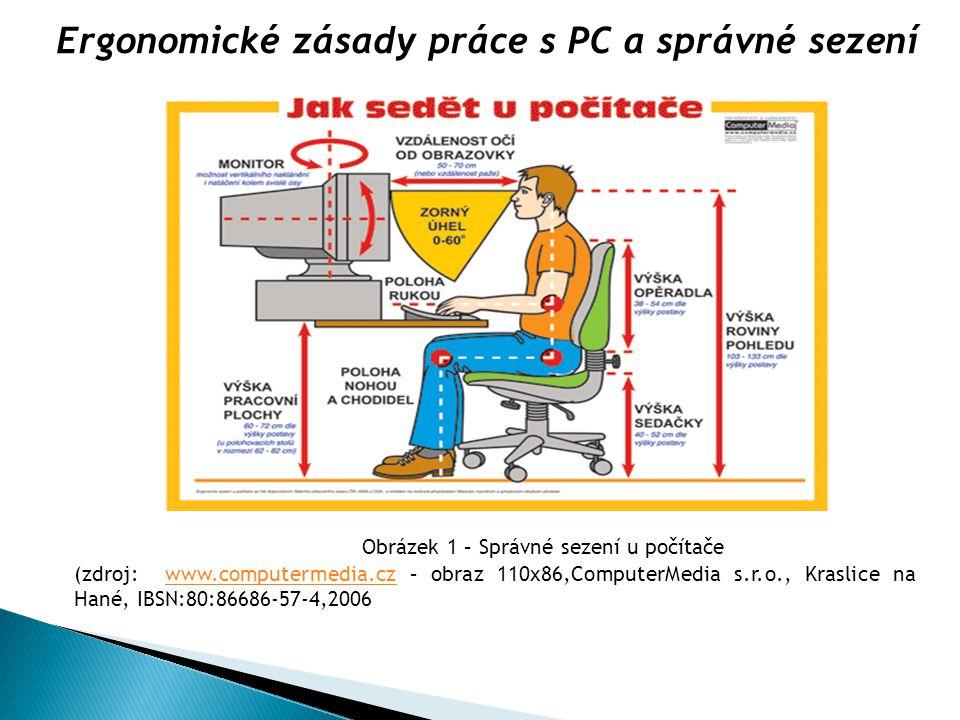 Ergonomické zásady práce s PC a správné sezení