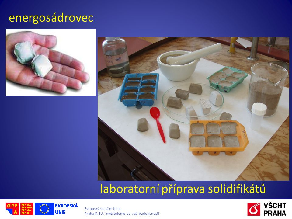 energosádrovec laboratorní příprava solidifikátů