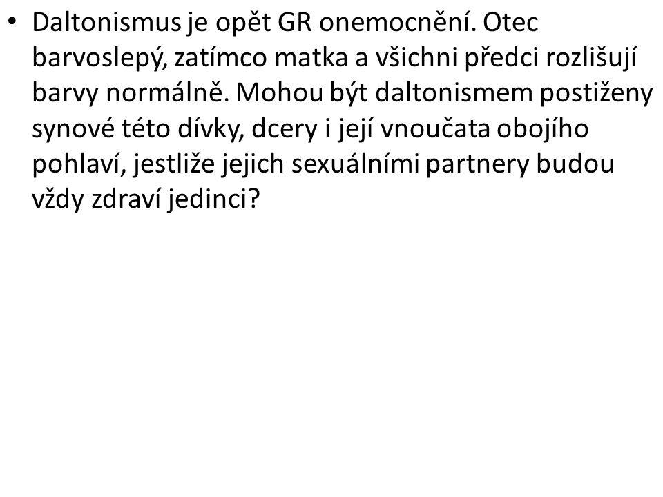 Daltonismus je opět GR onemocnění
