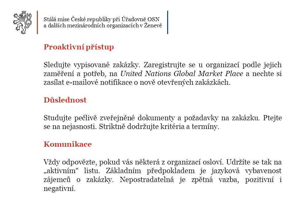 Stálá mise České republiky při Úřadovně OSN a dalších mezinárodních organizacích v Ženevě