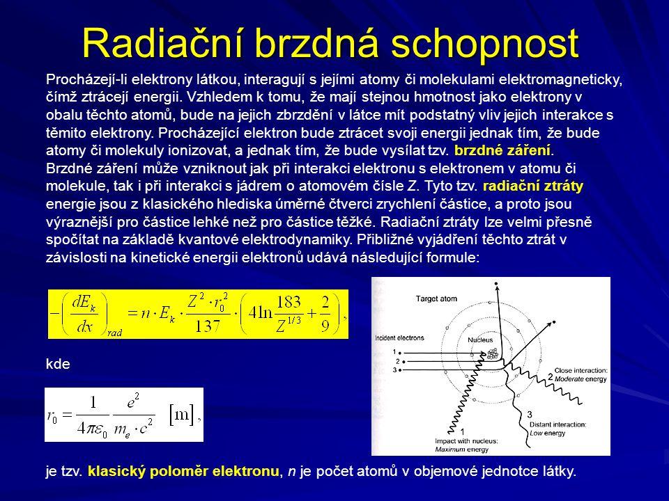 Radiační brzdná schopnost