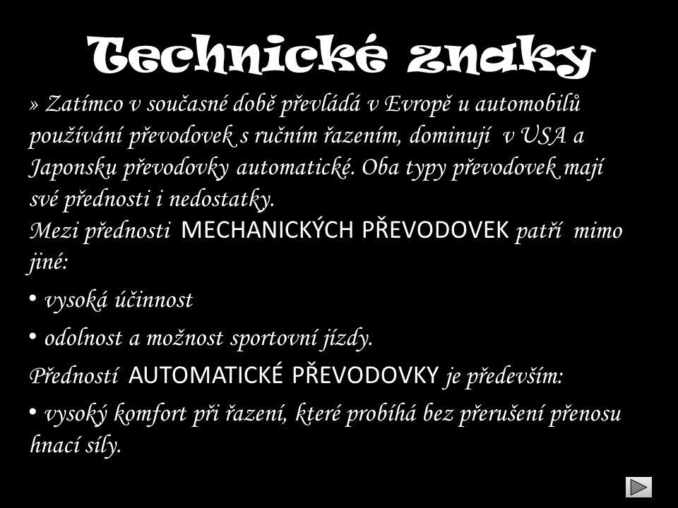 Technické znaky