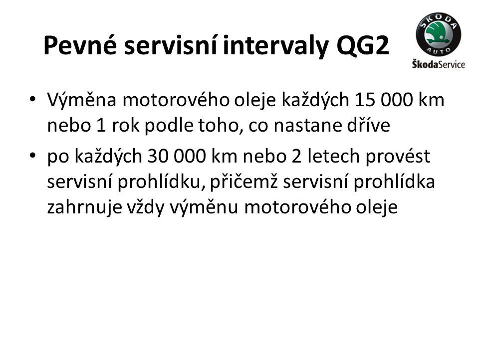 Pevné servisní intervaly QG2
