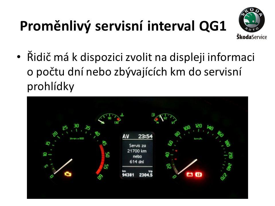 Proměnlivý servisní interval QG1