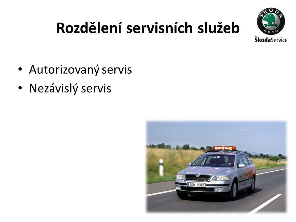 Rozdělení servisních služeb