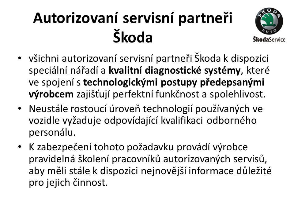 Autorizovaní servisní partneři Škoda