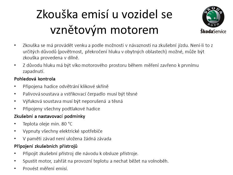 Zkouška emisí u vozidel se vznětovým motorem