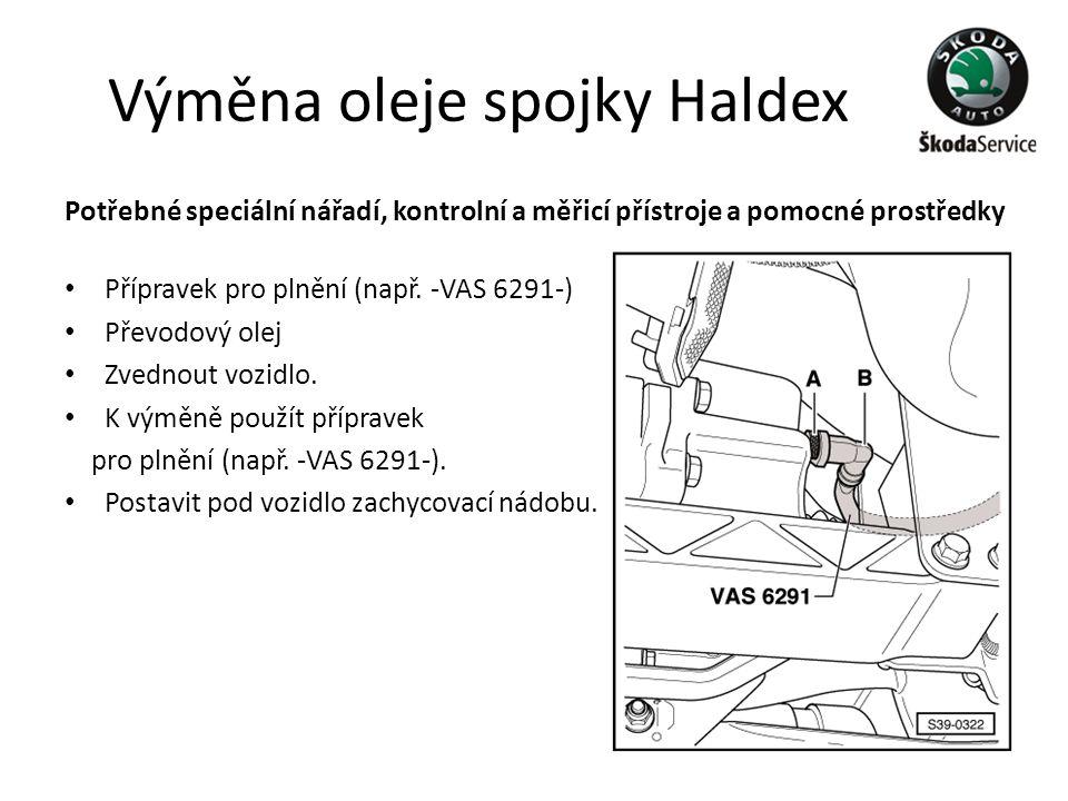 Výměna oleje spojky Haldex