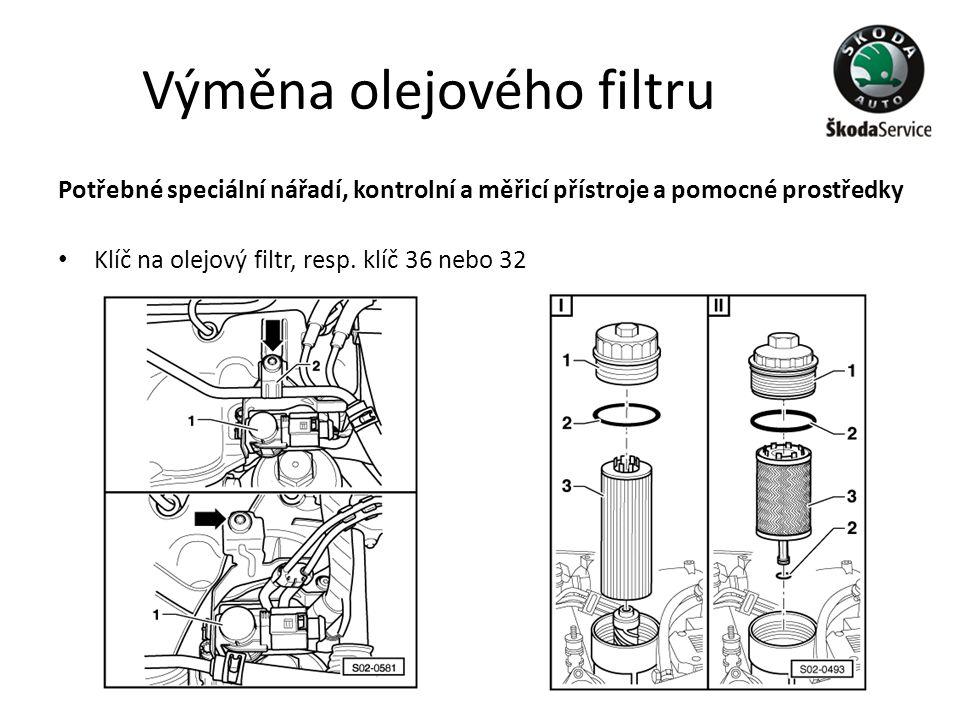 Výměna olejového filtru